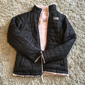 The Northface size large girls reversible coat